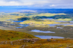 Landscape view of Inverpolly mountains area in highlands of Scot Stock Image