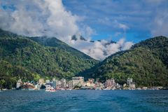 Sun moon lake. A landscape view of the Ita Thao town, at Sun Moon Lake, Taiwan royalty free stock images