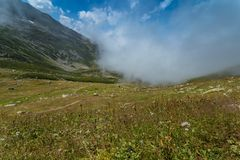 Landscape view of Kackar Mountains in Rize, Turkey. Royalty Free Stock Photo