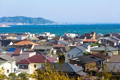 Landscape view of Kamakura town Royalty Free Stock Image