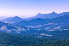Landscape view from the Keppel Lookout. Landscape view from the Keppel Lookout in Yarra Ranges National Park in Victoria, Australia royalty free stock photography