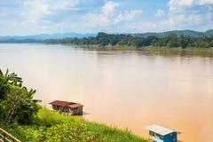 Landscape view of Khong river at Thai-Laos border Stock Photography