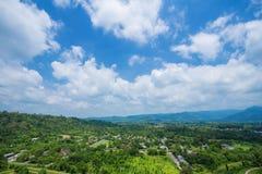 Landscape view from Khun Dan Prakarn Chon Dam in Nakhon Nayok, T Stock Image