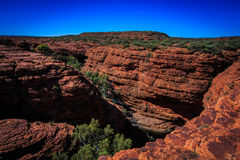 Landscape view at Kings Canyon, Australia Outback Royalty Free Stock Images