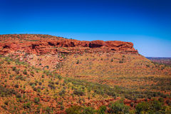 Landscape view at Kings Canyon, Australia Outback Stock Photos
