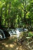 Landscape view of Kroeng Krawia Waterfall stock image