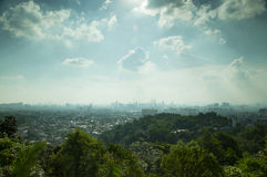 Landscape View of Kuala Lumpur. View of Kuala Lumpur during a day time Royalty Free Stock Photo