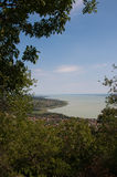 Landscape view on lake Balaton Royalty Free Stock Photography