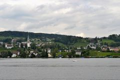 Landscape view from Lake Zurich Royalty Free Stock Image