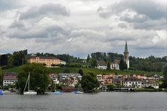 Landscape view from Lake Zurich Royalty Free Stock Photos