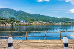 Landscape view of landmark of Rak Thai village in Mae Hong Son Royalty Free Stock Photos