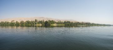 Landscape view of large river nile in Egypt stock image