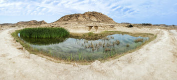 Landscape view of Las Bardenas Reales Stock Photos