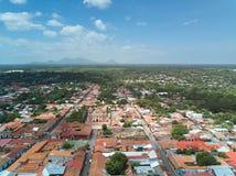 Landscape view of Leon town Stock Photo