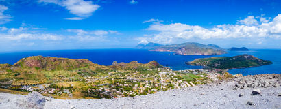 Landscape view of Lipari islands Royalty Free Stock Images