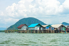 The landscape view of local thai village in Phang Nga bay Stock Photos