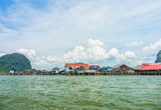 The landscape view of local thai village in Phang Nga bay Stock Photo