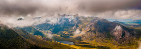 Landscape view of Macgillycuddy`s Reeks Royalty Free Stock Photos