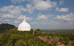 Landscape view of Mahaseya Dagoba Royalty Free Stock Photography