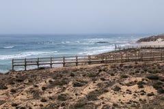 Malhao coastline on Alentejo. Landscape view of Malhao beach on Alentejo coastline Stock Image