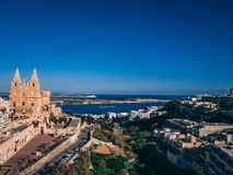 Landscape view in Malta. Morning view Stock Image