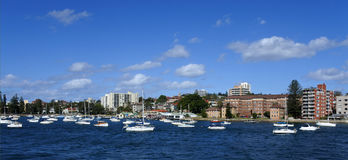 Landscape view of Manly in Sydney New South Wales, Australia Royalty Free Stock Photos