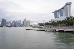 Landscape view of marina bay sands. Showing bay park area Royalty Free Stock Photos