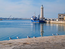 Landscape view of Molfetta touristic port. Stock Photography