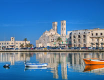 Landscape view of Molfetta touristic port. Apulia. stock images