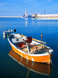 Landscape view of Molfetta touristic port. Apulia. Royalty Free Stock Photo