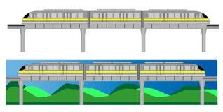 Landscape view of Mono rail train Royalty Free Stock Image