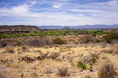 Landscape view from Montezuma Well, Royalty Free Stock Photo