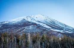 Landscape view of Mount Fuji in early winter season Royalty Free Stock Photography