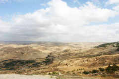 Landscape View at Mount Nebo, Jordan Stock Images