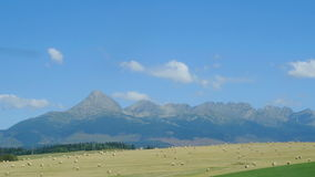 Landscape view of mountain High Tatras, Slovakia. Landscape view of mountain range colorful hills, fields, meadows and foliage, High Tatras, Slovakia royalty free stock images