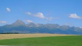 Landscape view of mountain High Tatras, Slovakia. Landscape view of mountain range colorful hills, fields, meadows and foliage, High Tatras, Slovakia stock images
