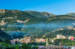 Landscape view on mountain in Montenegro Stock Photography