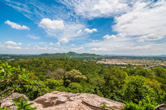Landscape view on mountain with sky Stock Image