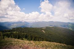 Landscape view of mountains in Colorado seen from Vail Mountain. stock images
