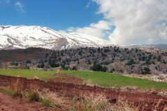 Landscape with view of mountains, Lebanon Stock Images