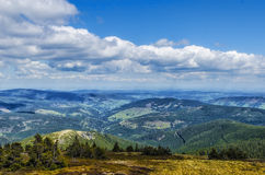 Landscape. View from the mountains to the Czech countryside Royalty Free Stock Photos