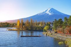 Landscape view of Mt.fuji stock photography