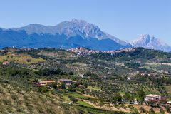 Landscape view of nature Marche, Italy Royalty Free Stock Photography