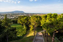 Landscape view of nature Marche, Italy Stock Image