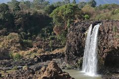 Landscape view near Blue Nile falls royalty free stock image
