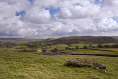 Landscape view from Norber Erratics towards Wharfe Dale in Yorks Royalty Free Stock Photography