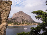 Landscape view in Noviy Svet in Crimea Royalty Free Stock Photography