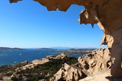 View From Capo D'Orso Rock in Sardinia royalty free stock image