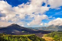 Landscape View Of Volcano Mount Gunung Batur, Kintamani, Bali Stock Photo