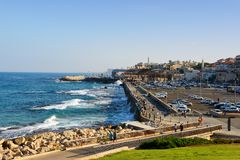 Landscape view of old Jaffa city port in Tel Aviv Jaffa stock image